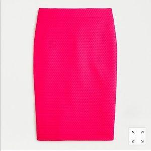 JCrew matelasse pencil skirt